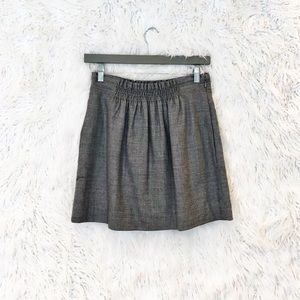 J. Crew shirred wool skirt